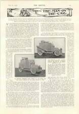 1906 New French Armoured Car Carries Bridge Captain Sycamore Ploughing Compass
