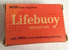 Vintage Bar of Lifebuoy Soap Regular Size Original Box Wrapped Bar Lever Bros
