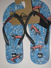 Quiksilver Molokai Ghetto 12 Men's Surf Flip Flops Sandals Shoes Blue Red Black