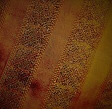 BURNISHED GOLD  PURE SILK BROCADE WITH WOVEN STRIPE