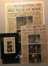 Ravensburger 16 523 1500 pc New York Times Front Page Men Walk On Moon  COMPLETE