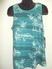 NEW RIP CURL SURF MEN SUNNY SIDE TANK TOP SHIRT AQUA GREEN M MEDIUM CC75