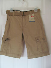 NWT Boy's Levi's Harvest Gold/Camo Cargo Shorts relaxed fit w/ belt size 10 Reg