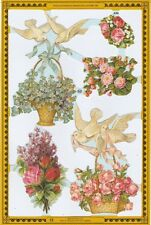 Chromo Le Suh Fleurs Colombes Mariage A94 - Dove and Flowers