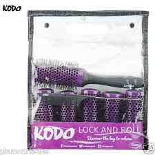 Kodo Lock & Roll Hair Brush Set 45mm, 6 Brushes 1 Locking Handle 1 Pin Tail Comb