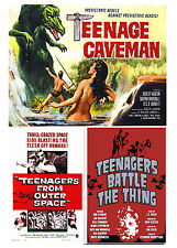 TEENAGERS BATTLE THE THING,TEENAGE CAVEMAN,TEENAGERS FROM OUTER SPACE TEENS!