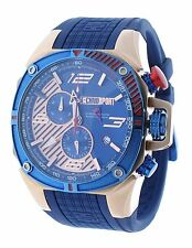 Technosport TS-100-8F1 Mens Watch Formula 1 Royal Blue & Rose Gold Swiss Chrono