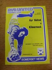 02/01/1982 Ayr United v Kilmarnock  (No Obvious Faults)
