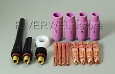 TIG KIT & WP SR 17 18 26 Series TIG Welding Torch Consumables Accessories 16PK