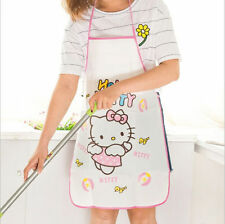 Waterproof Women's Kitchen Cute Hello Kitty Paint Cooking Apron vest protector