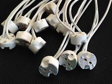 "Lot 200pcs MR16,GU5.3,G4, MR11 Bi-Pin Socket Base Ceramic,Wire L5.9""  US Base"