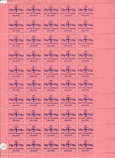 1971 STRIKE MAIL CITY OF LONDON 10p COMMEMORATIVES IN FULL SHEET OF 50 MNH