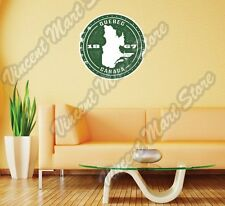 """Quebec Canada Country Map Grunge Stamp Wall Sticker Room Interior Decor 22"""""""