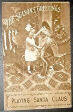 RPPC Real Photograph Postcard Christmas Santa Claus Roth & Langley Postcard