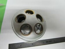 MICROSCOPE PART NOSEPIECE FIVE OBJECTIVES CAPACITY JAPAN BIN#A1-D-4
