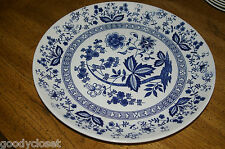 "JAPAN BLUE ONION CHOP SERVING PLATTER 11 5/8""DIAMETER CREAM COBALT BLUE DESIGN"
