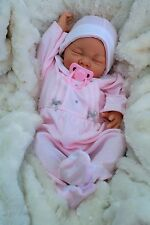 BUTTERFLY BABIES REBORN BABY SOFIA PINK WITH SILVER BOWS SPANISH ALL IN ONE  S