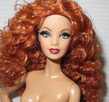 (B) NUDE BARBIE (B) ~ AUBURN APHRODITE LOOK CITY SHINE MODEL MUSE DOLL FOR OOAK