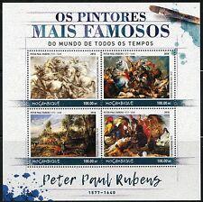 MOZAMBIQUE 2016 FAMOUS PAINTERS PETER PAUL-RUBENS SHEET MINT NH