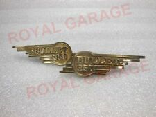 NEW PAIR ROYAL BIKES   BRASS MADE 350CC TOOL BOX BADGES 6