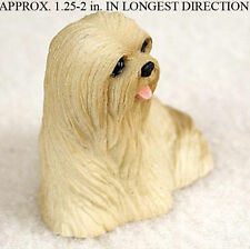 Lhasa Apso Mini Resin Dog Figurine Blonde