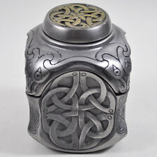 Celtic Patterned Trinket Box Yin Yang Design Cold Cast Bronze H9cm NEW 16025