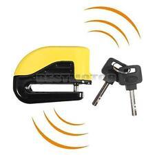 Yellow Motorcycle Pit Bike Scooter Anti-theft Disc Disk Brake Wheel Alarm Lock