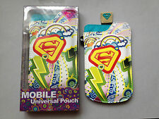 SUPERGIRL UNIVERSAL iPHONE / MOBILE PHONE PULL-UP CASE / COVER / POUCH / POCKET