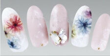 Multi Colour Translucent Flowers Water Transfers Nail Art Sticker Decals UV Gel