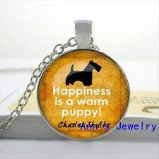 Lovely Carino la felicità è un caldo Cucciolo Collana. splendido. nella Borsa regalo in organza