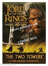 deck LORD of the RINGS starter The TWO TOWERS ARAGORN 63 trading cards carte NEW