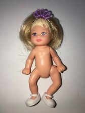 Barbie Baby Real Blonde Hair Shoes Tiara Crown Pageant Girl Doll Accessory