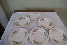 Set of 6 Royal Albert Bone China Dessert Dishes with rose design