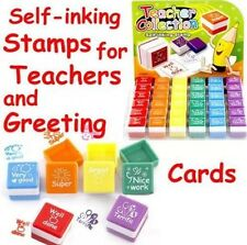 6x Teachers Stampers Self Inking Reward Stamps Motivation Parents Stickers UK SL