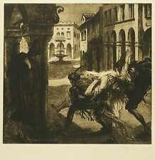 ALOIS KOLB - Frauenraub - Radierung / Aquatinta 1920