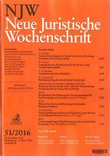 NJW 51/2016 - Neue Juristische Wochenschrift  +++ wie neu +++