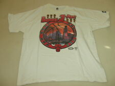 STARTER CHICAGO BULLS REPEAT 3-PEAT NBA CHAMPIONS 1998 T-SHIRT SIZE L JORDAN 23
