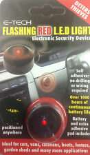 Stick on led flashing light lamp security deterrent flashes red alarm look car