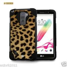 Yellow Cheetah Shockproof Case w/Stand Cover for LG Stylo 2 LS775 Stylus 2