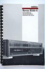 Studer REVOX b250-s Service-Manual/Servizio-Istruzioni/Schema Elettrico! Top-condizioni!