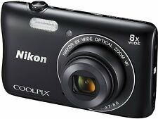 NIKON Coolpix S3700 20.1MP Digital Photography Camera 8 x Zoom BLACK* BUNDLE KIT