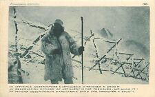 WW1 Italia Italy an observation officer of artillery in the trenches alt 8000 ft
