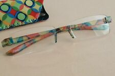 Womens Foster Grant Multicolor Rimless Magnivision Glasses Compact Readers +2.00