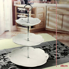 3 Tier Cupcake Stand Stainless steel Round Wedding Birthday Cake Display Tower