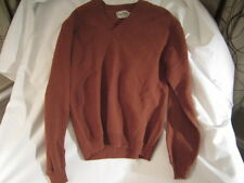 Preowned Men's Size Large Gays Mills Sportswear V Neck Brown Sweater
