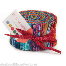 "Moda FABRIC Jelly Roll ~ DE LA SOL BATIKS ~  40 - 2.5"" strips"