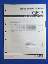 YAMAHA GE-3 GRAPHIC EQUALIZER SERVICE MANUAL ORIGINAL FACTORY ISSUE