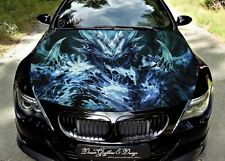 Devil Dragon Full Color Graphics Adhesive Vinyl Sticker Fit any Car Bonnet #212