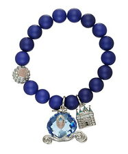 Disney Couture Official Cinderella Beaded Crystal Glass Carriage Bracelet