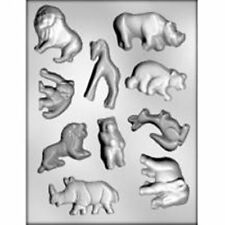 Jungle Animal CHOCOLATE  Candy MOLD Lion Rhino Kangaroo Elephant Bear Monkey